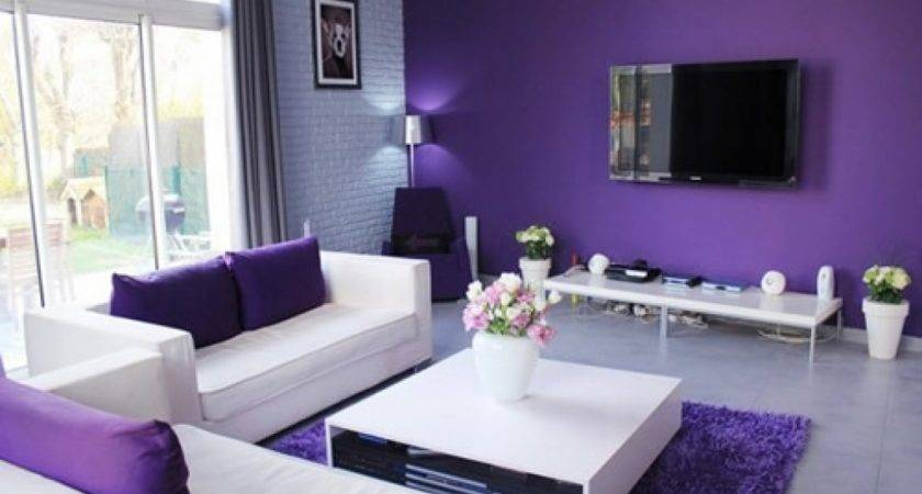 Simple Ideas Purple Room Design Interior Inspiration