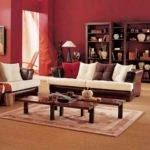 Simple Living Room Design Brown White Sofa Wooden