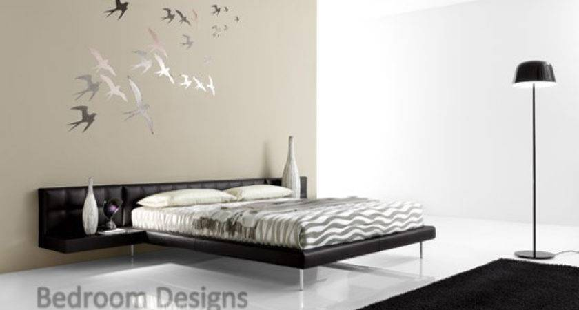 Simple Master Bedroom Design Creative Wall Paintings