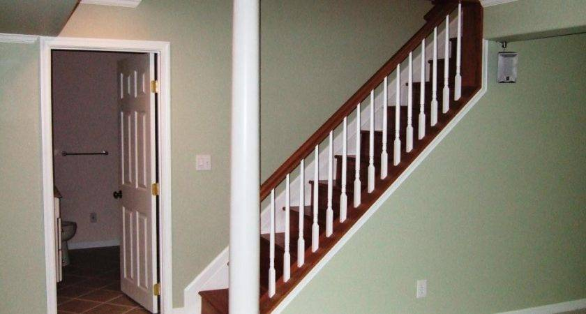 Simple Options Basement Stairs Railing