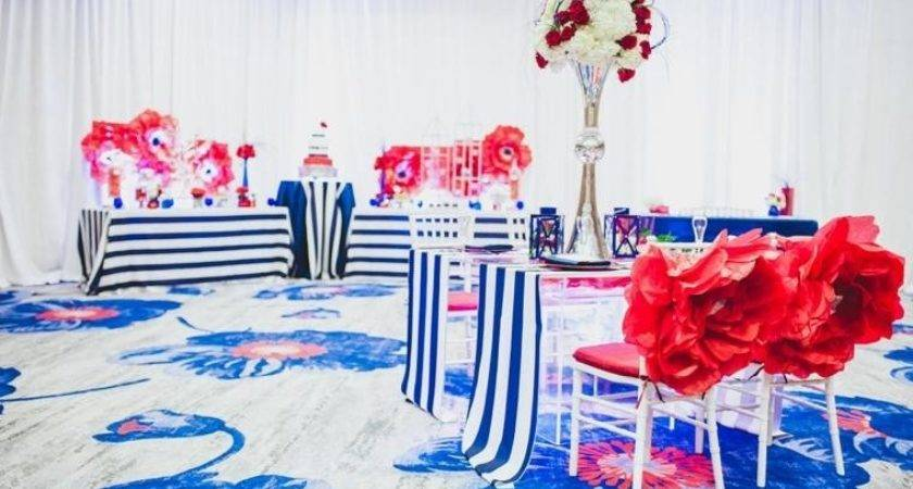 Simple Red White Blue Wedding Centerpieces Terrific