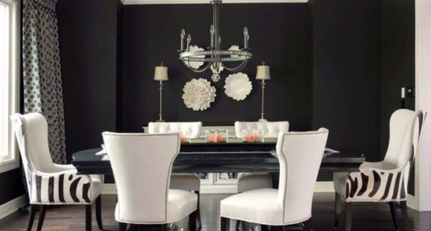 Simple Wall Art Ideas Black Painted Dining Room Walls
