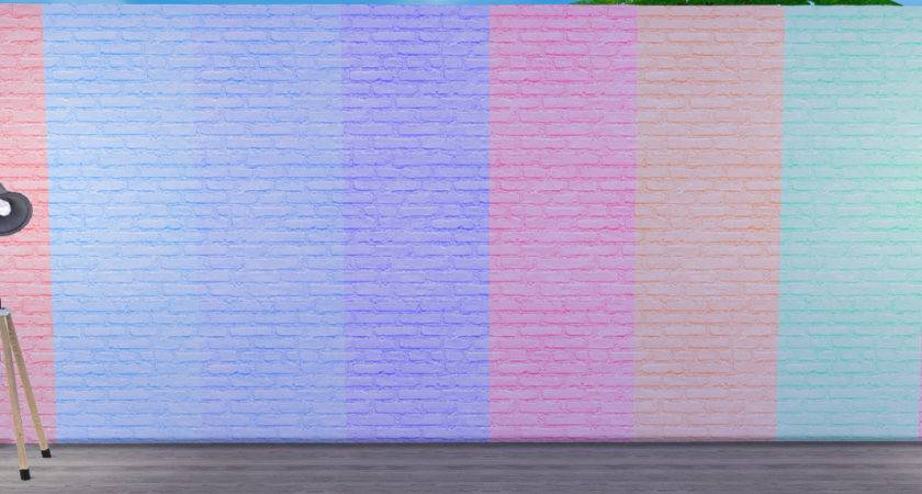 Sims Blog Pastel Brick Walls Grilledcheeseaspiration