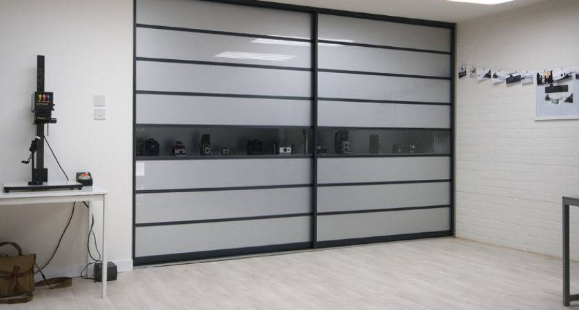 Sliderobes Fitted Sliding Wardrobe Grey Glass Clear
