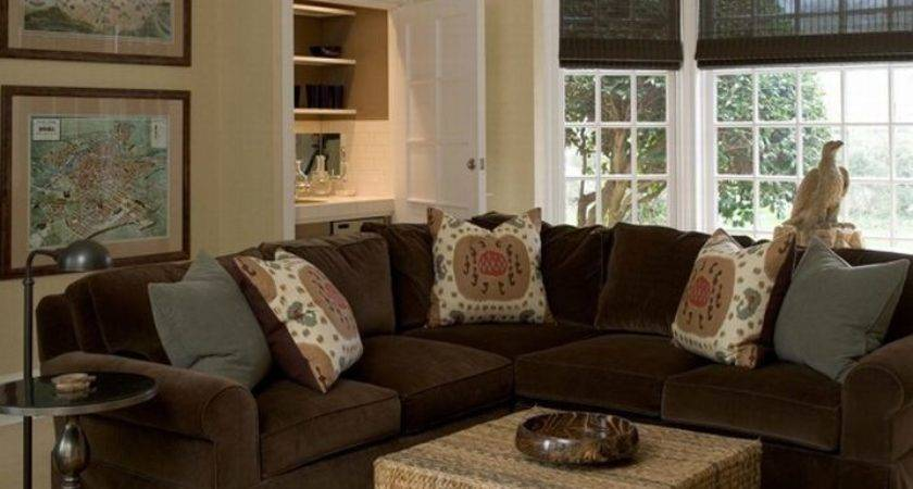 Slipcovered Sectional Contemporary Living Room