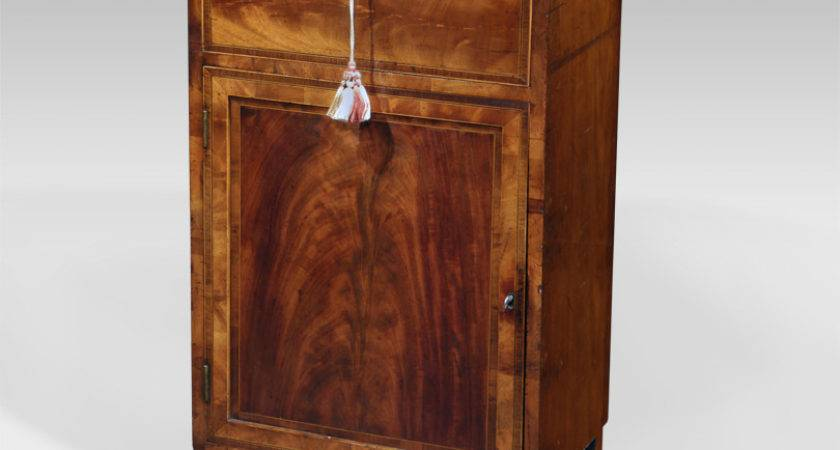 Small Antique Side Cabinet Mahogany Cupboard