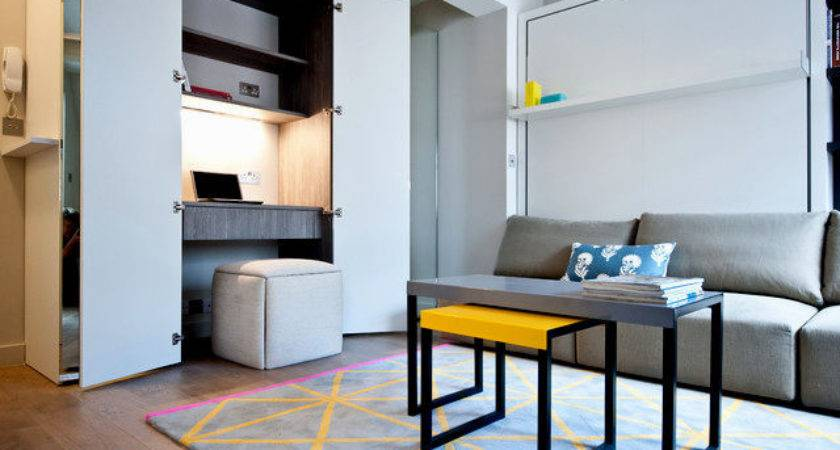 Small Apartment Home Office Design Decoration Plan