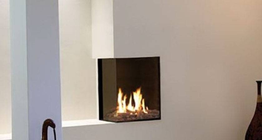 Small Corner Gas Fireplace Residence Living Room