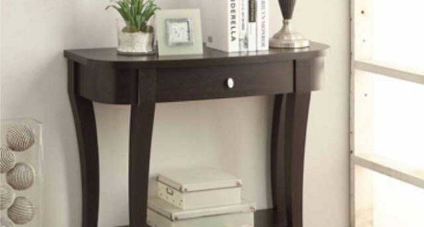 Small Entryway Table Ideas Black Finish