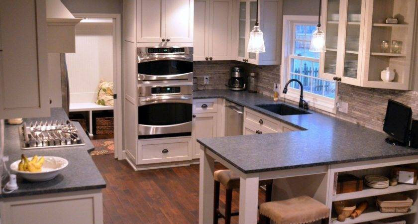 Small Kitchen Floor Plans Peninsula Wall Decal