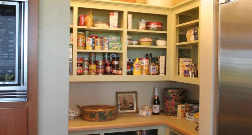 Small Kitchen Open Pantry Must Have All Downsized
