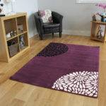 Small Large Purple Aubergine Modern Rugs Quality Soft