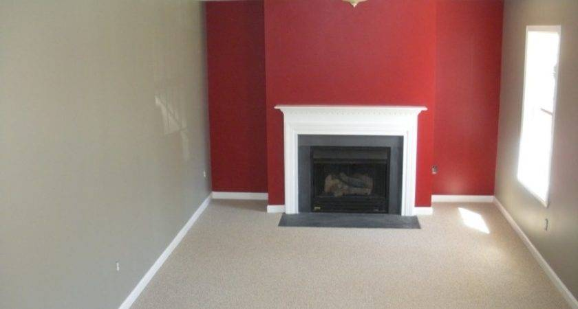 Small Living Room Accent Wall Ideas Red Grey