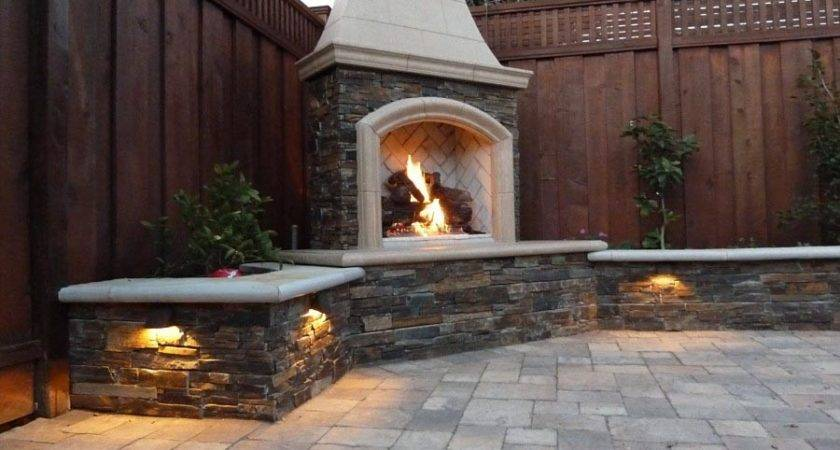 Small Outdoor Gas Fireplace Designs
