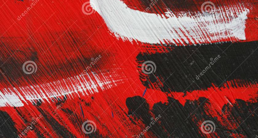 Small Part Painted Metal Wall Black Red White