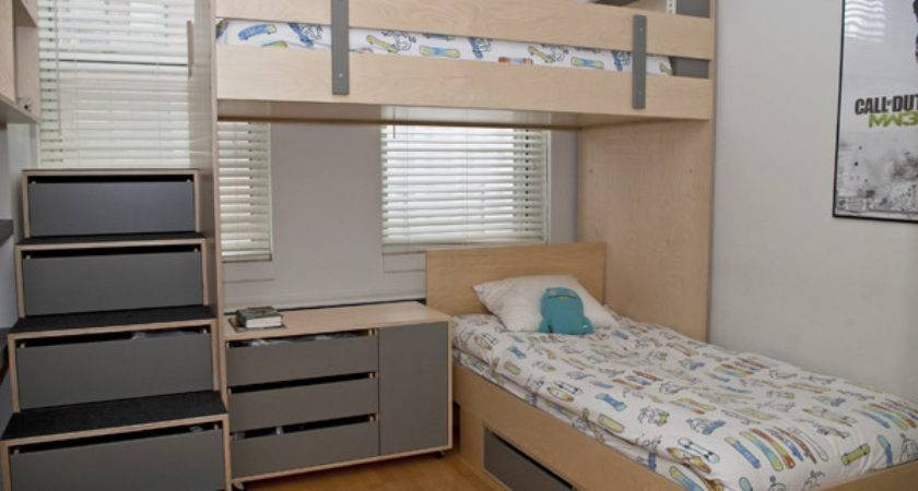 Small Room Design Saving Space Bed