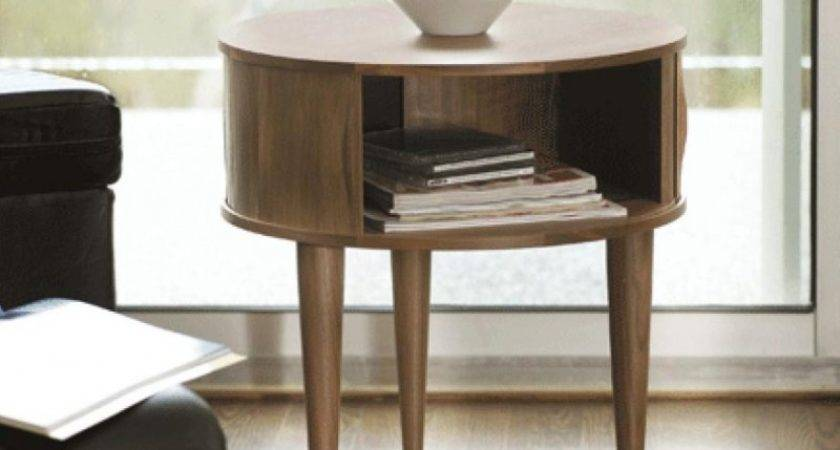 Sofa Accent Table Tall Wooden End Side Tables