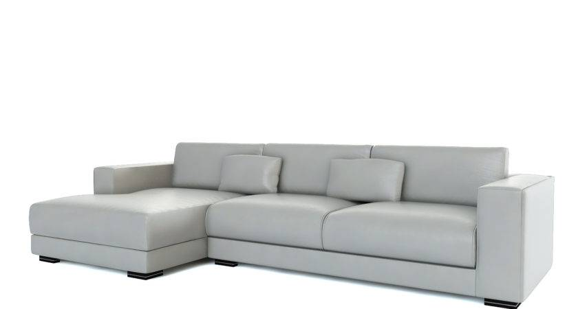 Sofa Charming Light Grey Leather