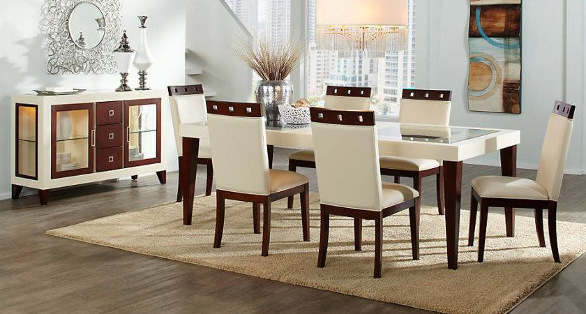 Sofia Vergara Savona Ivory Rectangle Dining Room