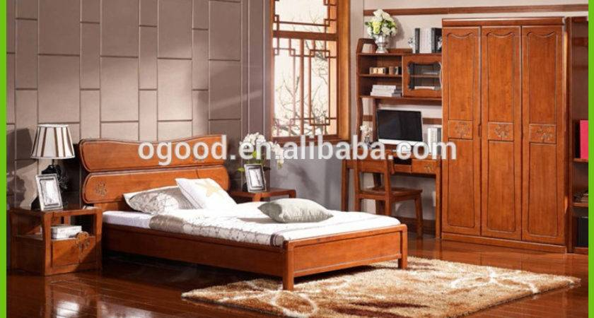 Solid Wood Contemporary Bedroom Furniture