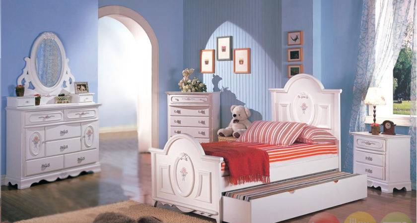 Sophie Girls White Traditional Twin Bedroom Set Floral