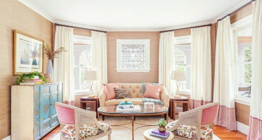 Sophisticated Peach Paint Color Living Room Photos