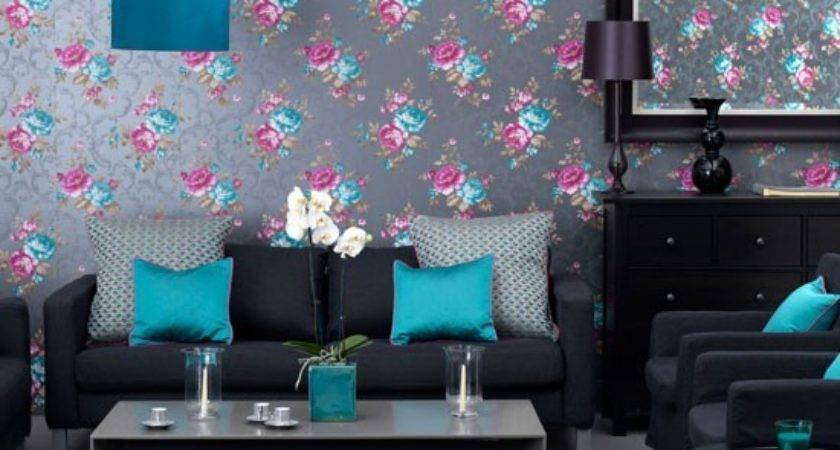 Sophisticated Teal Living Room