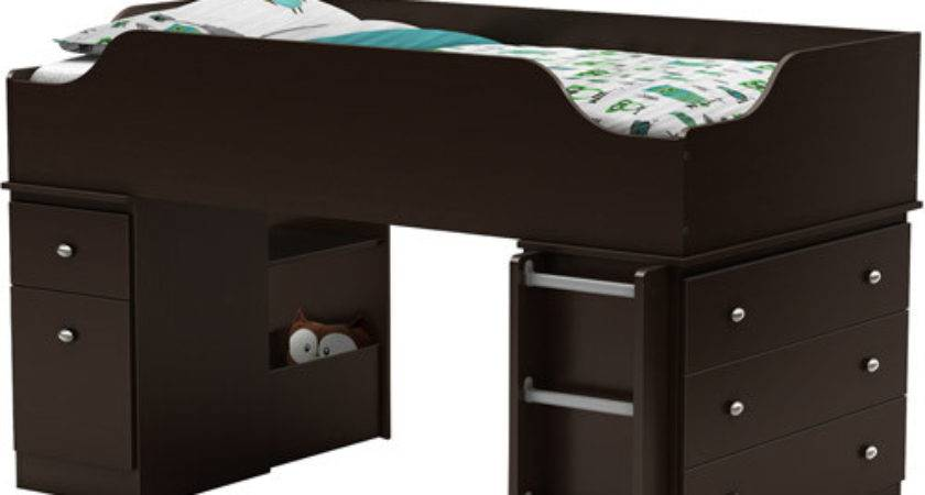 South Shore Treehouse Loft Twin Bed Chocolate Box