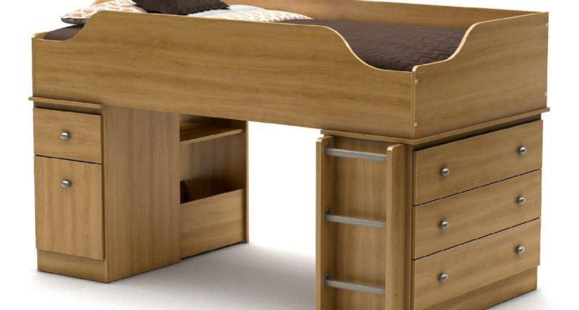 South Shore Treehouse Twin Loft Bed Harvest Maple Home