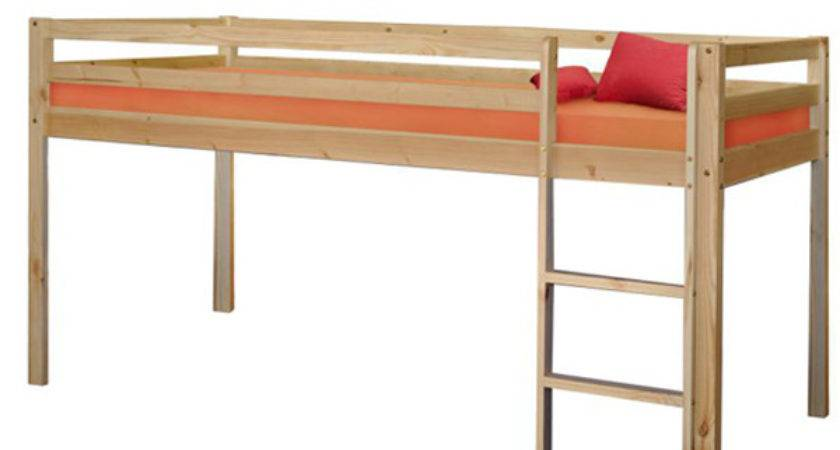 Space Saving Twin Low Loft Bed Natural Kids Beds