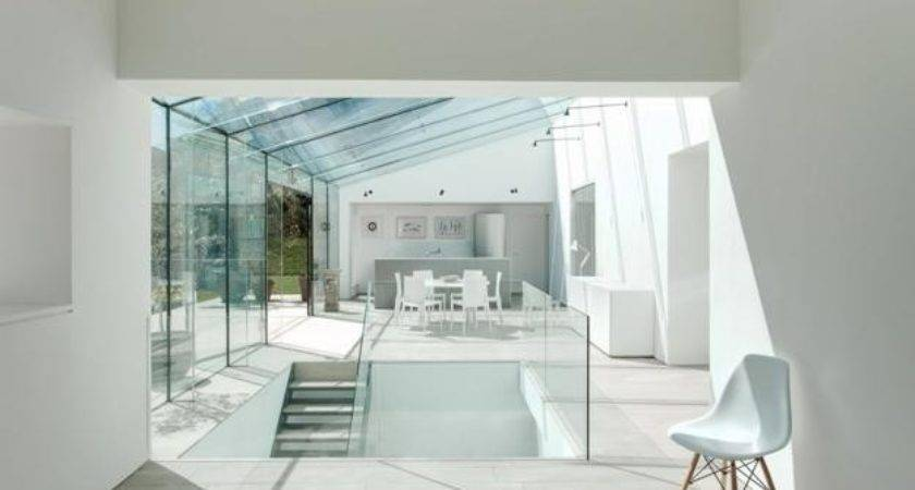 Spectacular Glass House Extension Interior Redesign