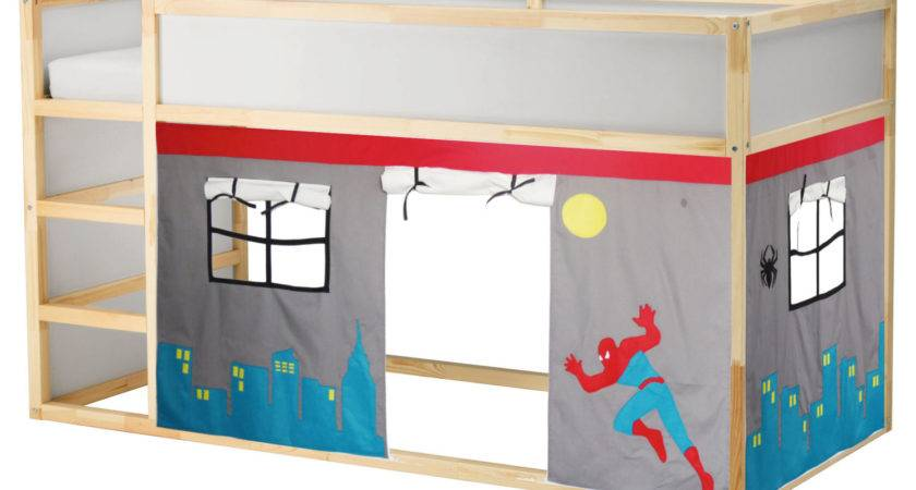 Spiderman Bed Playhouse Tent Loft