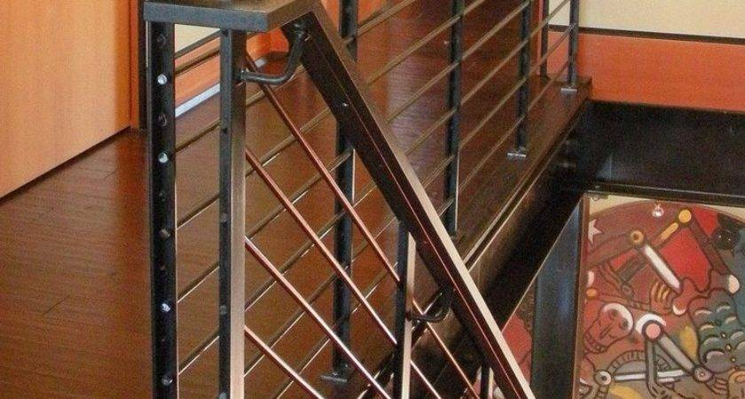 Stair Railing Details Staircase Industrial