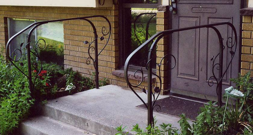 Stairs Extraordinary Handrails Steps Wrought Iron