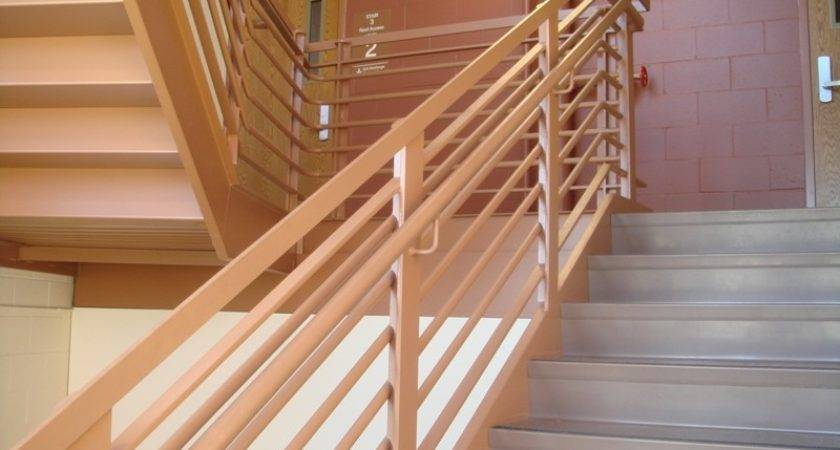 Stairs Glamorous Wood Railing Designs Appealing