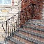Stairs Inspiring Exterior Wrought Iron Railing