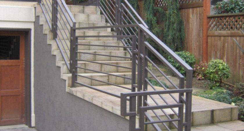 Stairs Inspiring Outdoor Stair Railing Vinyl