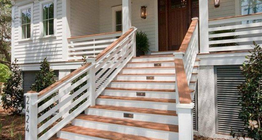 Stairs Interesting Front Steps Railing Ideas Awesome