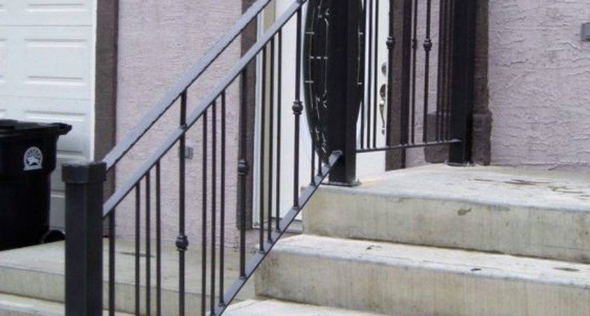 Stairs Interesting Front Steps Railing Ideas