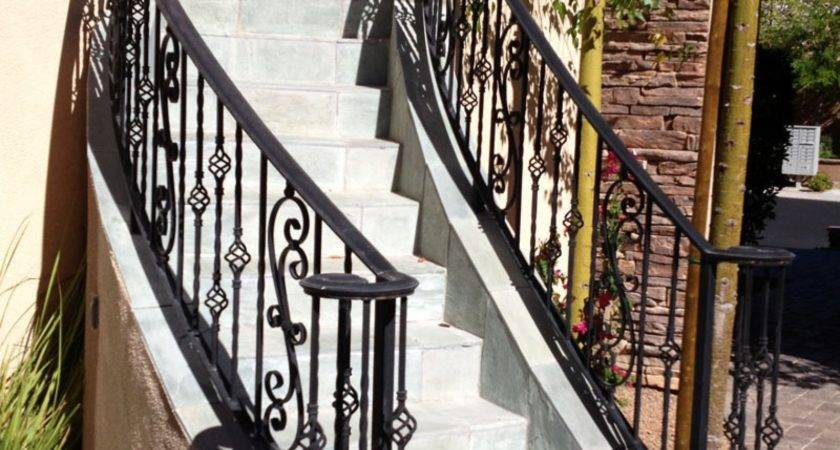 Stairs Interesting Metal Handrails Outside Steps