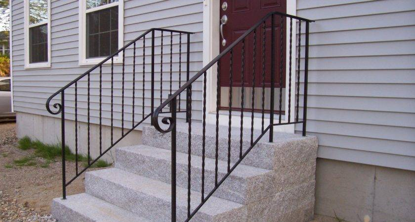 Stairs Outstanding Outside Handrails Wrought Iron