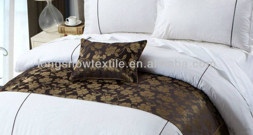 Stars High Quality Hotel Bedding Linen Set Natural