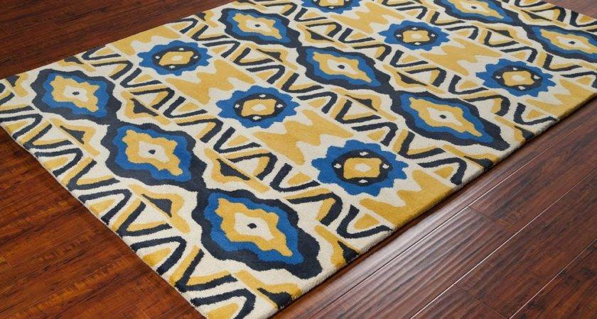 Stella Collection Hand Tufted Area Rug Cream Yellow