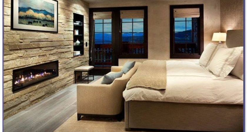 Stone Accent Wall Bedroom