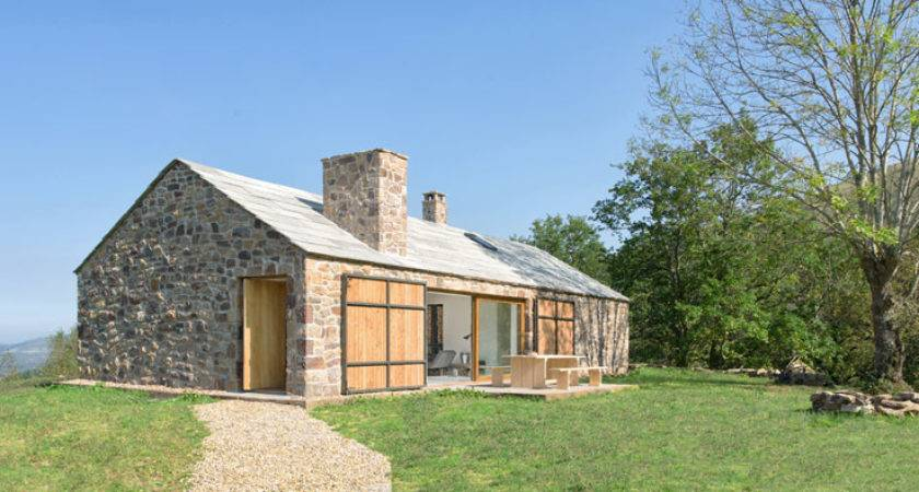 Stone Cottage Spain Has Contemporary Interior