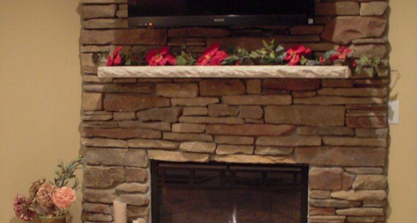 Stone Fireplace Mounted Tile Contractor