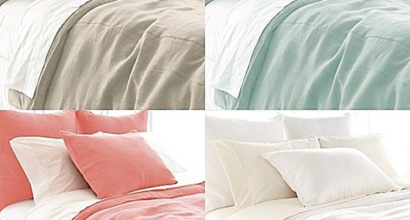 Stone Washed Linen Duvet Cover Pillow Sham Maine Cottage