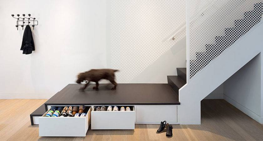 Storage Stairs Double Duty Designs Maximize Space