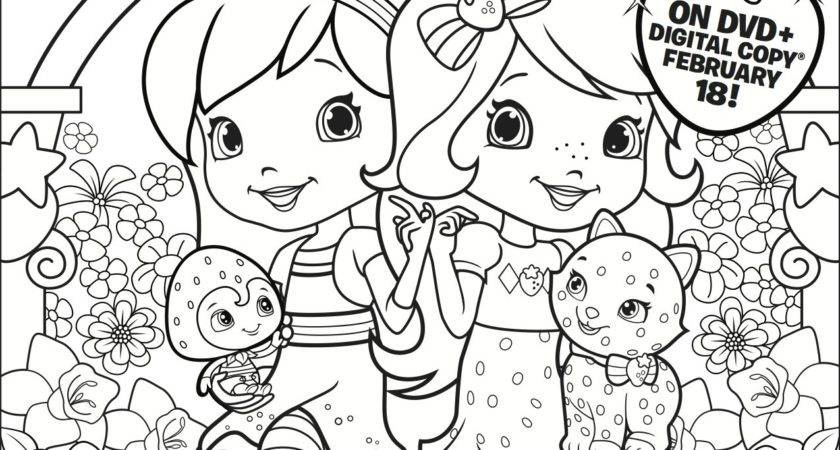 Strawberry Shortcake Dvd Coloring