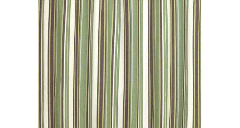 Striped Shower Curtain Casual Cottage